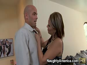 Sasha Sky takes charge and fucks her husbands best employee.